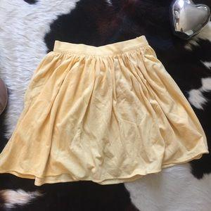 American Apparel yellow cotton mini skirt